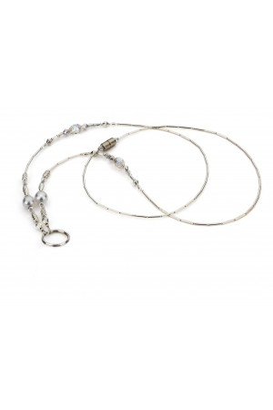 Beaded Lanyard - White